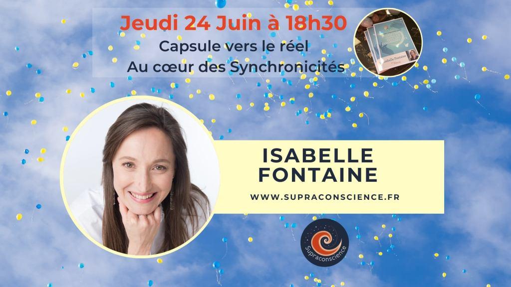 Live ce soir 24 juin 18h30 «Au coeur des synchronicités»